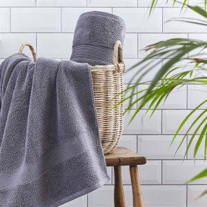 Silentnight Plain Towels - Charcoal
