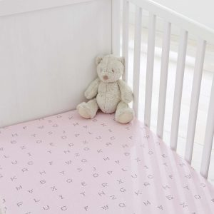 Silentnight Safe Nights Alphabet Fitted Sheet - Pink