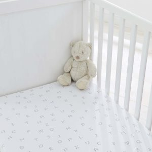 Silentnight Safe Nights Alphabet Fitted Sheet - White