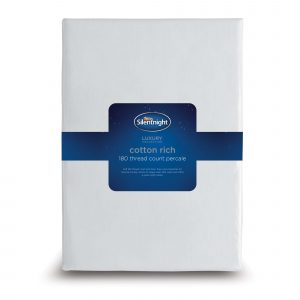 Silentnight Cotton Rich Fitted Sheet - White